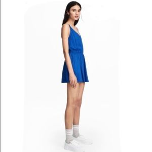 H&M Basic Royal Blue Playsuit Romper